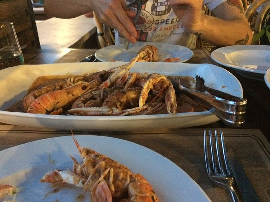 Pizzeria Topolino: Shrimps bussara