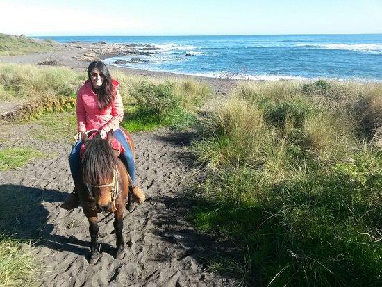Curanipe, ชิลี: una cabalgata en la playa?