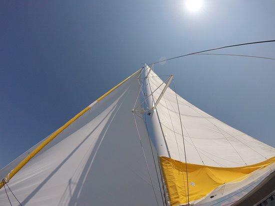 Tip Top Vent d'Arguin: hissage de la grande voile