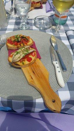 Pappafico: Bruschette marinare