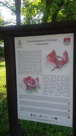 Zamek w Inowłodzu: Tablica informacyjna