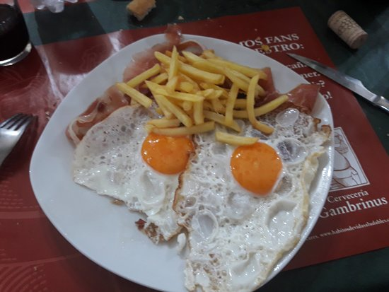 Leioa, Spain: Huevos fritos