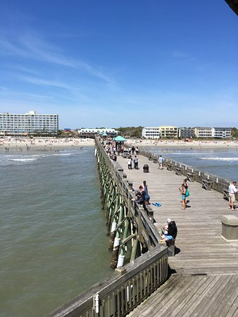 Folly Beach Fishing Pier: View from the tower at end of pier
