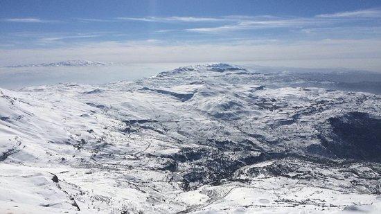 Kfardebian, Lebanon: The view from the peak of the Mzaar mountain.