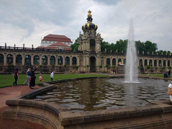 The Dresden Zwinger: another view from the exposition
