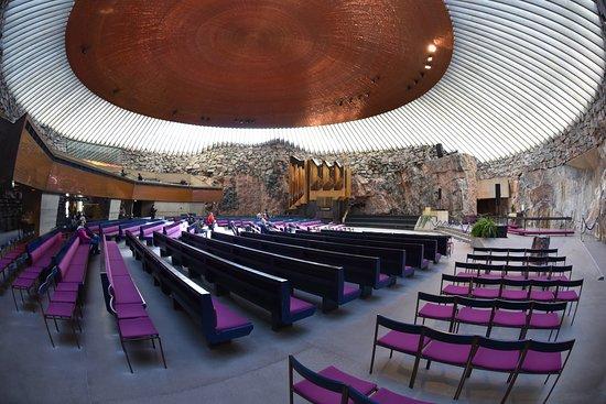 Ναός του Βράχου: Widok wnętrza.