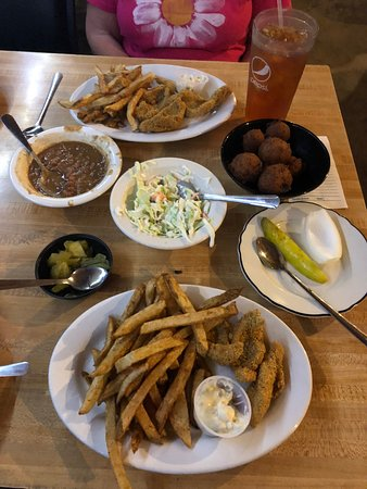 Sallisaw, OK: All you can eat catfish dinner.