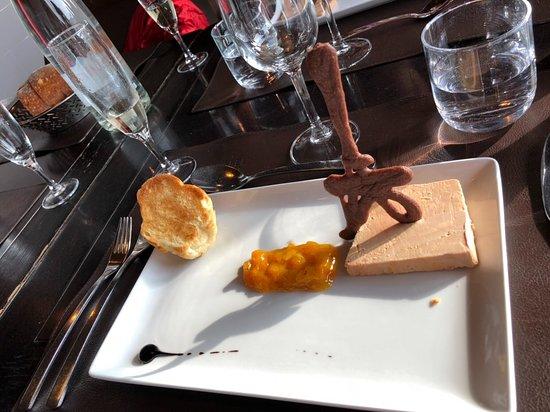 58 Tour Eiffel Restaurant: Foie gras appetizer, smooth and gelish