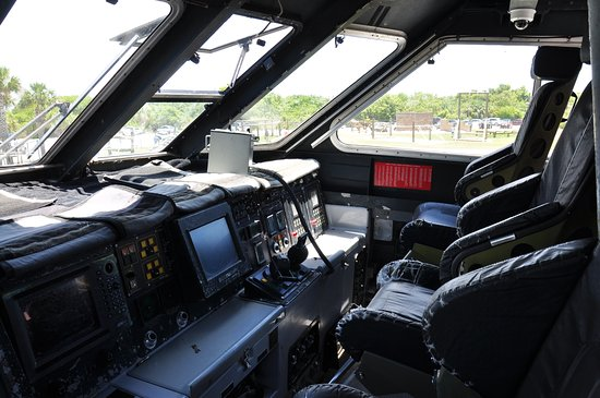 Fort Pierce, FL: Inside view of cockpit of one of the boats