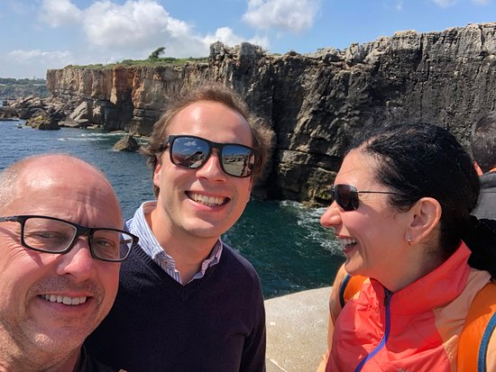 Sintra, Cascais and Estoril Private Tour from Lisbon: Us with our guide Tomas