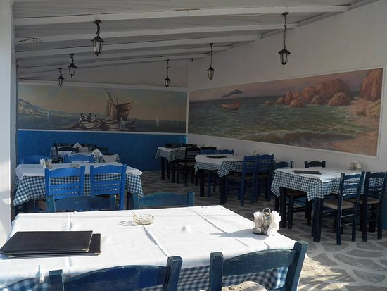 ilia's taverna αιθουσα - Picture of Ilias Taverna, Skopelos Town ...