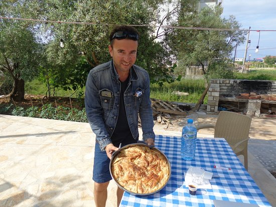 Solive: elton the owner with homemade burek