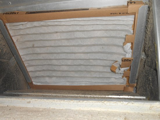 Legacy Dunes: Aircon filter that they said had been changed prior to arrival unit 9102