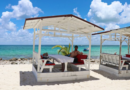 VIP Saona Island Dive and Snorkel Small Group Tour from Punta Cana: Lunch spot.