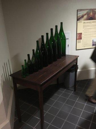 Artesa Vineyards & Winery: Wine bottle sizes. On the tour.