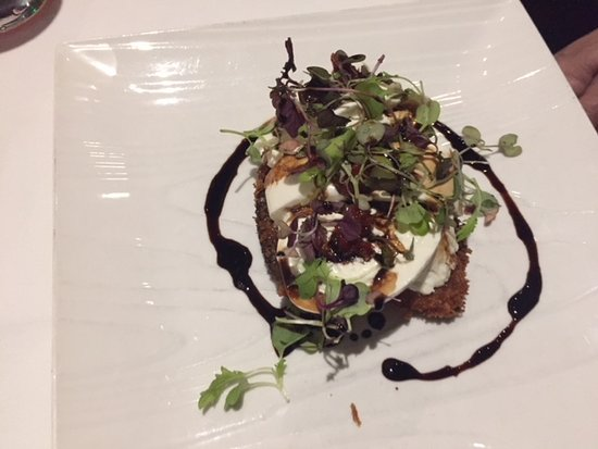 East Patchogue, NY: Burrata and Eggplant Appetizer