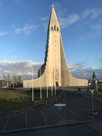 Hallgrimskirkja: View from Hotel Leifur Eiriksson across the street