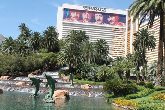 The Mirage Hotel & Casino: The front of the hotel