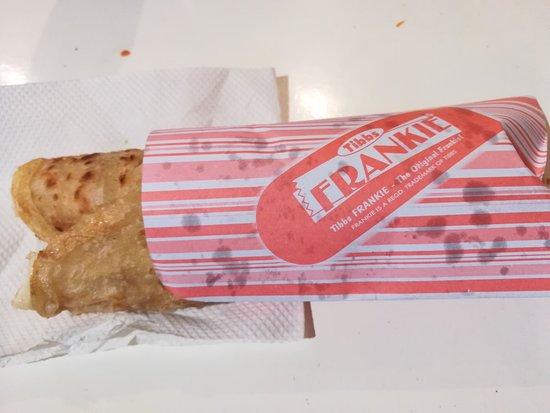 Tibbs Frankie: Chicken Chettinad Frankie