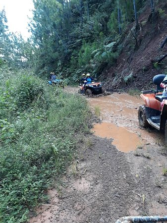 ATV Quad Bike Adventure Tour to Remote Village and School (Departs Nadi): getting dirty now