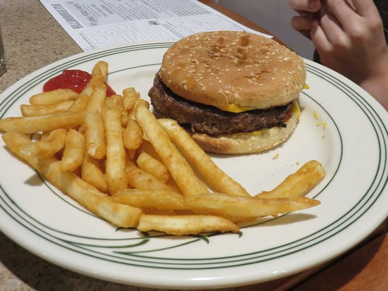 Hillsborough, NJ: Kid size burger and fries