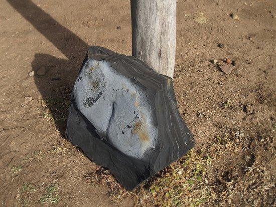 Joadja Creek, Australia: The slate mined for its oil and fuel properties.