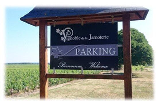 Vignoble de la Jarnoterie: Un Parking ombragé ...d'environ 100m....Soyez les bienvenus!