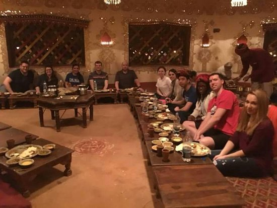 Go Hari India Tour: Our Travellers Dinner at chawki dhani