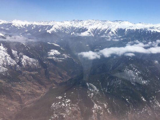 Druk Air: this is himalaya range view from cabin