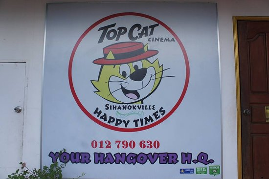 Top Cat Bar & Lounges: The minimal look, due to a change in signage regulations...