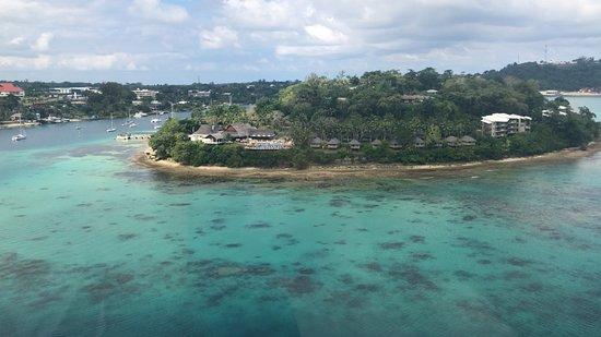 A Taste of Port Vila 7 Minute Scenic Helicopter Tour: Iririki Island