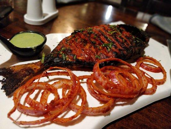 Something Different-- A beachside Cafe : yummy...tandoori fish