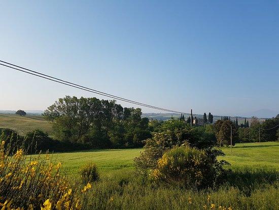 """Agriturismo Torrenieri: Vista dalla """"Limonaia"""""""