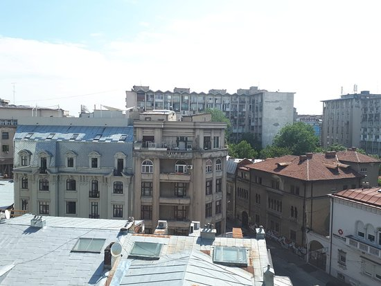 Mercure Bucharest City Center: View from the balcony of our superior double room
