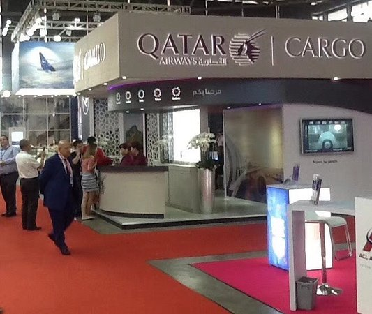 Shanghai New International Expo Centre (SNIEC): SIAL 2018: Qatar Airways Cargo at the N1 in the SNIEC.