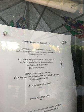 Muggensturm, Tyskland: Menu card