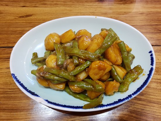 BaiNian Shen Chu (TianFu ZhangCheng): Potato and Green beans, nice and light