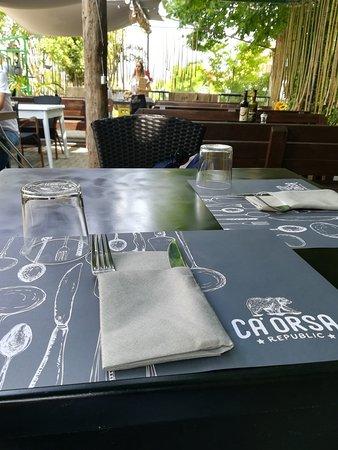 Ca' Orsa: Zona pranzo esterna