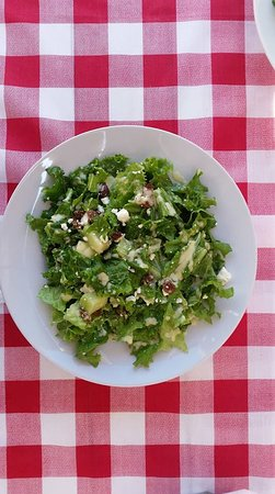 I Love Souvlaki: Summer love salad is made of  Lettuce,melon cubes,greek crushed feta cheese,raisins&ceasars dres
