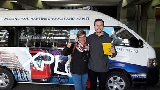 Xplor Tours: End of tour and Thumbs Up from Penny and Ryan