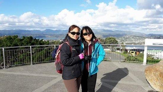 Xplor Tours: Margaret and Hilda (Hong Kong) at Mt Victoria Lookout, Wellington
