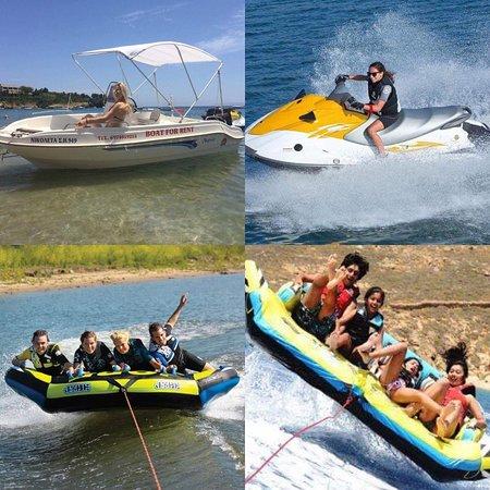 Agia pelagia Crete,Aqua star,rent a boats and water sports