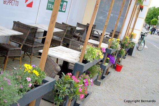 Traun, Austria: Der kleine aber gemütliche Gastgarten