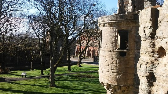 The Earl's Palace: looking across to St Magnus Cathederal