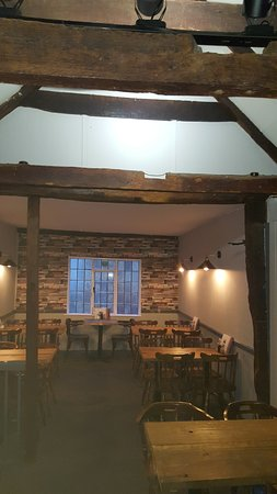 Upstairs has room for another 40 people under the 450 year old timbers framed roof