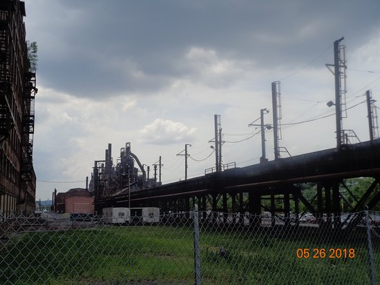 Sands Casino: Picture of one of the remaining buildings of the Bethlehem Steel Plant- this is next to Sand's