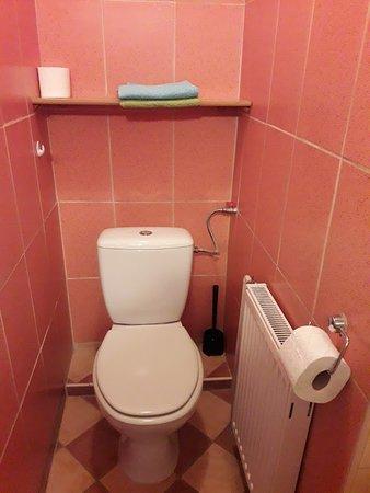 Villa Martin: Toaleta w pokoju dwuosobowym.