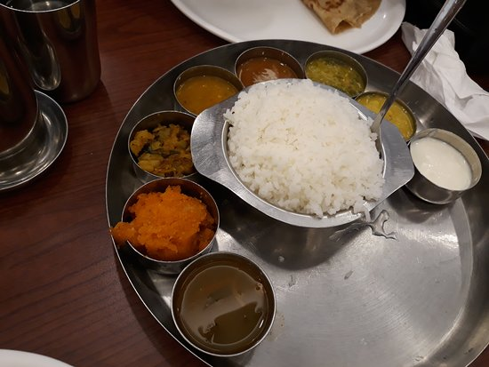 Anjappar Indian Chettinad Restaurant : Veg Meal Set