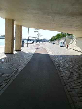 Szczecin, Pologne: Boulevard du bord de l'Odra