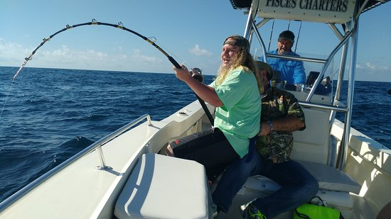 Pisces Charters: Awesome day amber jack fishing.